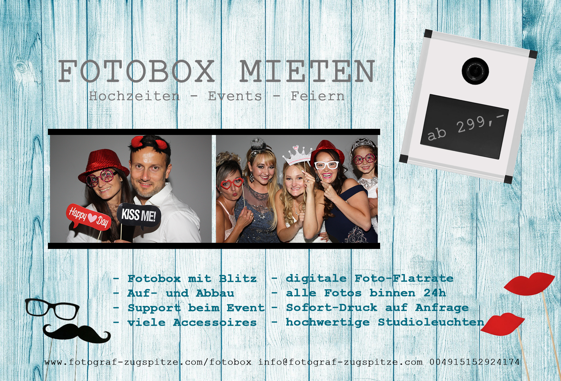 Fotobox Garmisch Partenkiirchen Bad Tölz Murnau