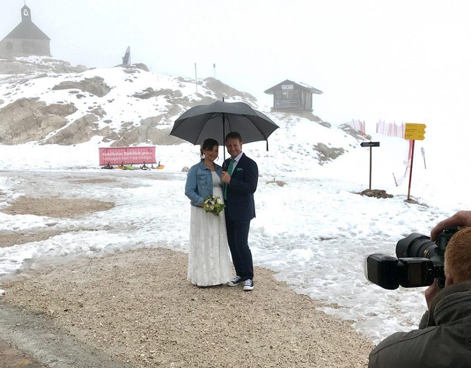 Fotograf auf der Zugspitze
